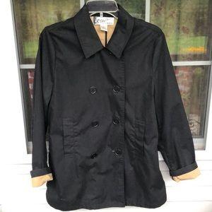 Oleg Cassini Black utility/rain coat.